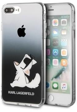Karl Lagerfeld Choupette Fun SunGlasses do iPhone 7/8 przezroczyste/czarne (KLHCI8CFNRCBK)