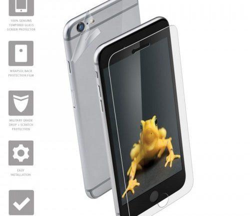 Wrapsol Hybrid Hartowane szkło ochronne 9H + folia na obudowę do iPhone 6s Plus iPhone 6 Plus 10_8065