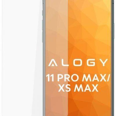 Alogy Szkło hartowane na ekran do Apple iPhone 11 Pro Max + Szkło na obiektyw 039462