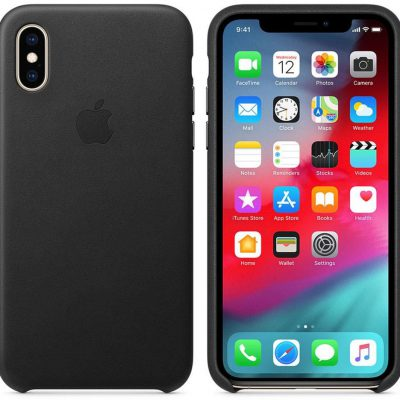 Apple Apple iPhone XS Leather Case Black (MRWM2ZM/A)