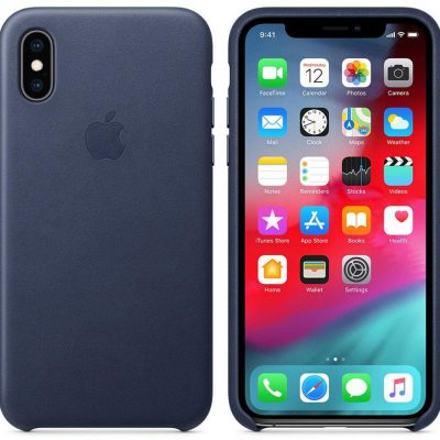 Apple Apple iPhone XS Leather Case Midnight Blue (MRWN2ZM/A)