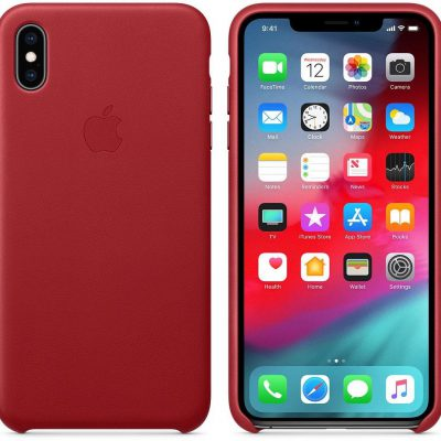 Apple Apple iPhone XS Max Leather Case Product Red (MRWQ2ZM/A)