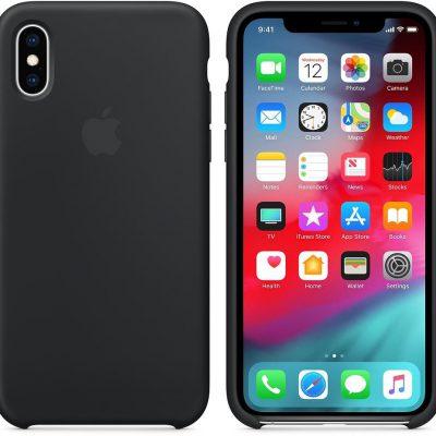 Apple Apple iPhone XS Silicone Case Black (MRW72ZM/A)