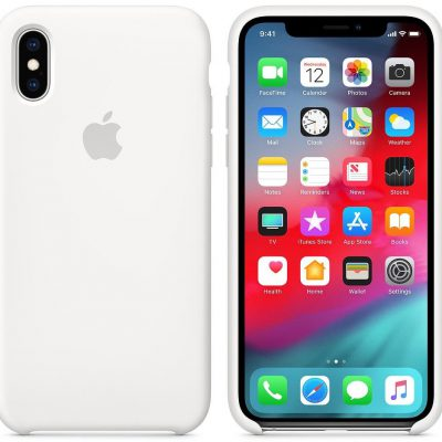Apple Apple iPhone XS Silicone Case White (MRW82ZM/A)