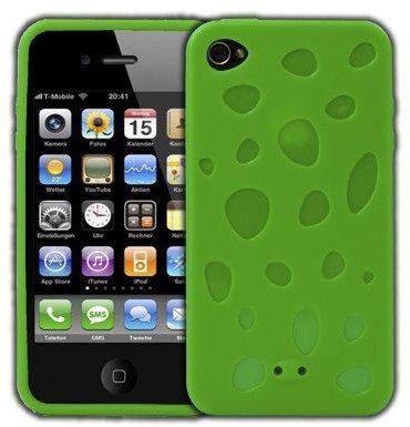 APPLE Logotrans Cheese Series silikonowe etui ochronne do iPhone 4, zielony