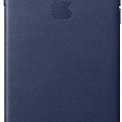 Apple Obudowa dla telefonów komórkowych Leather Case pro iPhone 8 Plus 7 Plus půlnočně modrý MQHL2ZM/A)