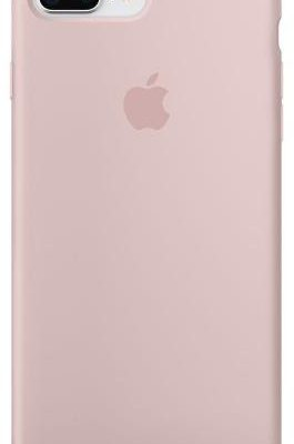 Apple Silicone Case iPhone 8 Plus/7 Plus Piaskowy Róż (MQH22ZM/A)