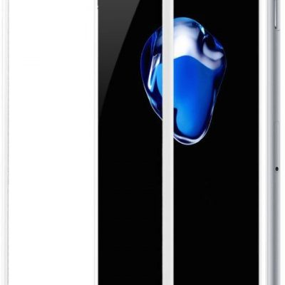 Baseus Baseus szkło hartowane na cały ekran Full Screen z ramką 0.23mm 9H iPhone 8 Plus / iPhone 7 Plus biały (SGAPIPH8P-GPE02) - Biały SGAPIPH8P-GPE02