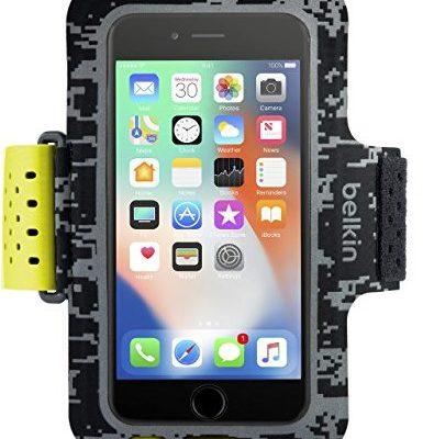 Belkin Sport-Fit Pro Fitness-bransoletka do iPhone 8, iPhone 7, iPhone 6/6S, czarny F8W843btC00