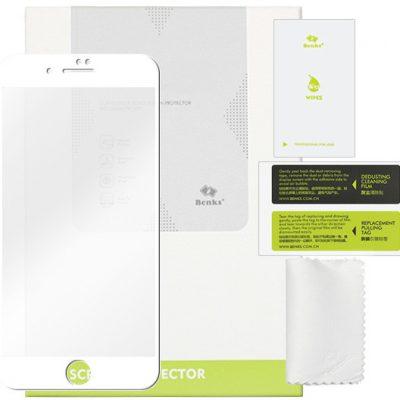 Benks Apple iPhone 8 Plus - szkło hartowane KR+ Pro 3D - białe FOAP610BNKRWHT000