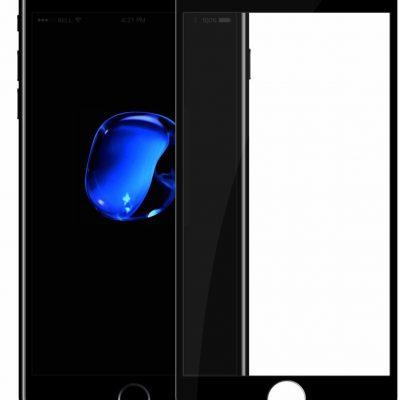 Blueo Mr. Monkey Glass 5D Strong HD Szkło Hartowane 9H Na Cały Ekran iPhone 8 Plus / 7 Plus / 6S Plus / 6 Plus (Czarna Ramka)