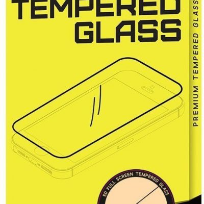 Braders Szkło hartowane na cały ekran z ramką do iPhone SE 2020 / iPhone 8 / iPhone 7 białe