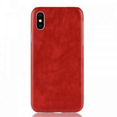 Crong Crong Essential Cover Etui iPhone Xs X czerwony) 10_14374