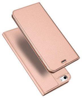 Dux Ducis Skin Pro etui pokrowiec z klapką iPhone SE 5S 5 różowy Różowy iPhone 5