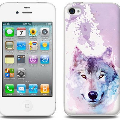 Etuo.pl Fantastic Case - Apple iPhone 4/4 S - etui na telefon Fantastic Case - dream wolf ETAP008FNTCFC134000