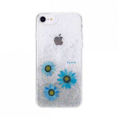 FLAVR iPlate Real Flower Julia iPhone 6/6s/7/8 (niebieski)
