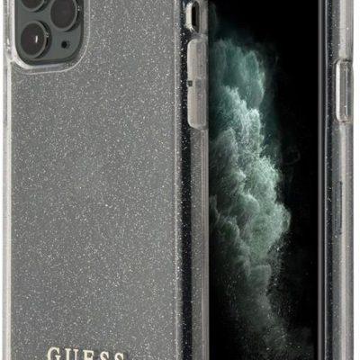 GUESS Guess Glitter Case Etui na iPhone 11 Pro Max (Silver) GUHCN65PCGLSI