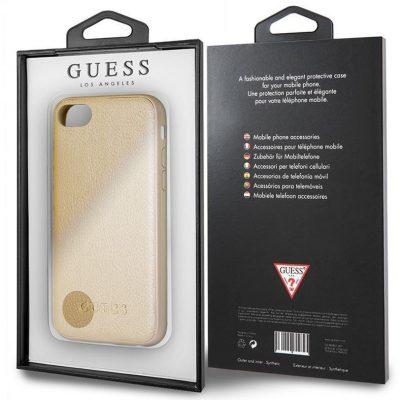 Guess Iridescent - Etui iPhone 8 / 7 (złoty) GUHCI8IGLGO