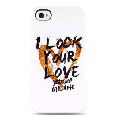 JUST CAVALLI by Puro i Lock your Love twarda osłona/etui ochronne do Apple iPhone 4/4S, biały