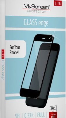 MYSCREEN Protector Protector LiteGlass Edge Szkło do Apple iPhone 7 Plus Czarny (159523)