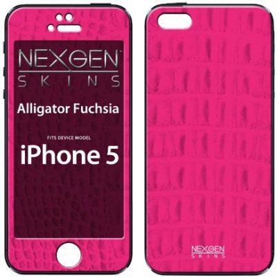 Nexgen Skins iP50004 Alligator Fuchsia z efektem 3d Skin Case do Apple iPhone 5/5S