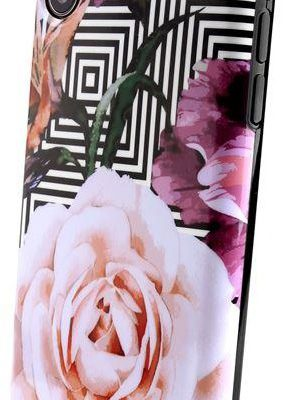 PURO Glam Geo Flowers - Etui iPhone Xs / X (Pink Peonies) IPCXCGEOFLO2BLK