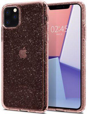 Spigen Etui Liquid Crystal Glitter do Apple iPhone 11 Pro Max Przezroczysto-różowy