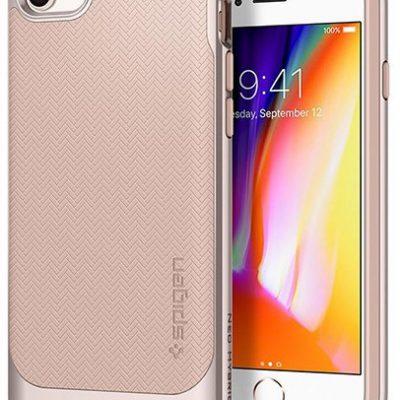 Spigen Neo Hybrid Herringbone etui na tył Apple iPhone 7 NA TYŁ TWORZYWO SZTUCZNE RÓŻOWY JASNY 054CS22202