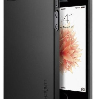 Spigen SGP SGP Etui Thin Fit Apple iPhone 5 5S SE - Black