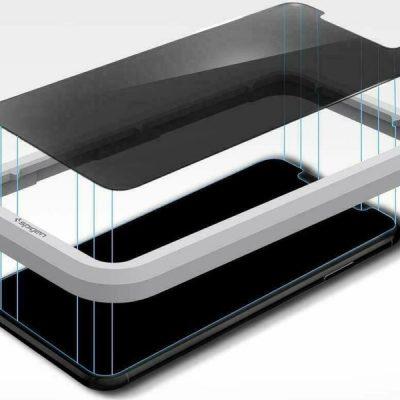 Spigen Szkło Align Master Privacy do Apple iPhone 11 Pro Max/XS MAX AGL00095