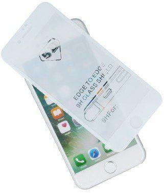 TelForceOne Szkło hartowane Tempered Glass 5D do iPhone 7 / iPhone 8 białe z ramką
