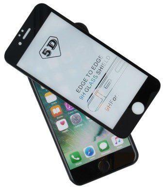 TelForceOne Szkło hartowane Tempered Glass 5D do iPhone 7 / iPhone 8 czarne z ramką