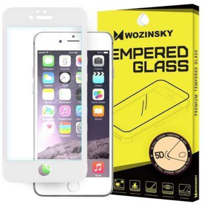 Wozinsky PRO+ super wytrzymałe szkło hartowane 5D Full Glue Case Friendly na cały ekran z ramką iPhone 6S / 6 biały 7426825338389