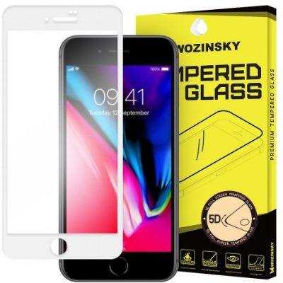 Wozinsky PRO+ super wytrzymałe szkło hartowane 5D Full Glue Case Friendly na cały ekran z ramką iPhone 8 biały 7426825338440