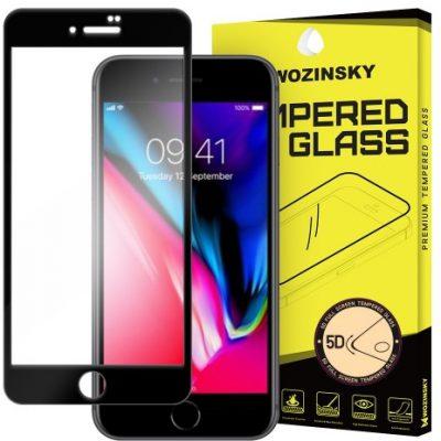 Wozinsky PRO+ super wytrzymałe szkło hartowane 5D Full Glue Case Friendly na cały ekran z ramką iPhone 8 czarny 7426825338433