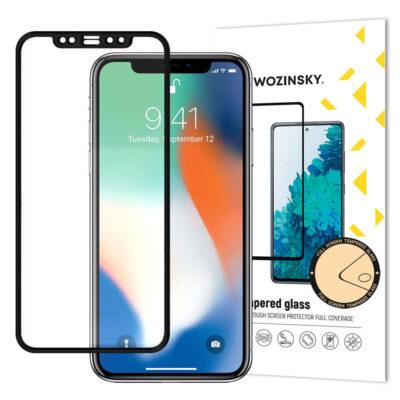 Wozinsky super wytrzymałe szkło hartowane Full Glue na cały ekran z ramką Case Friendly Apple iPhone 11 Pro Max / iPhone XS Max czarny