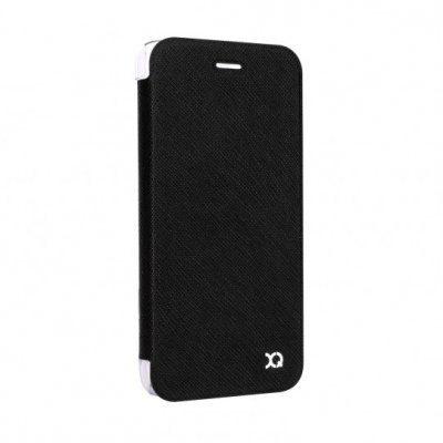 XQISIT Etui Flap Cover Adour do iPhone 7 Plus Czarny
